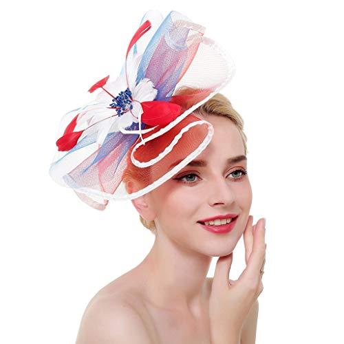Braun Cocktail Hut - POTOU Haarschmuck Kopfband Damen Kopfband Frauen