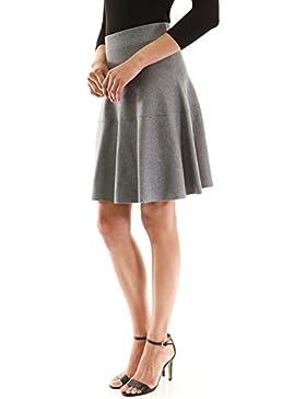 PattyBoutik Mujer Ajuste y falda de punto suéter de punto