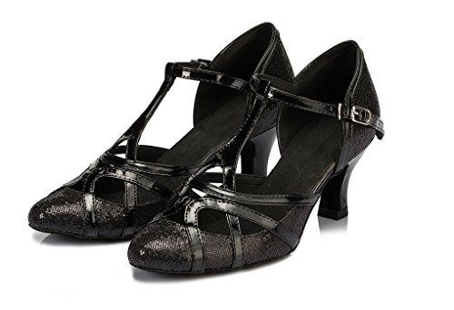 Minitoo, Scarpe da ballo donna Black-6cm Heel