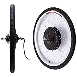 YiWon 36V 26 Zoll Hub Motor E-Bike Conversion Kit Hinterrad Elektro-Fahrrad Motor Umbausatz 500W