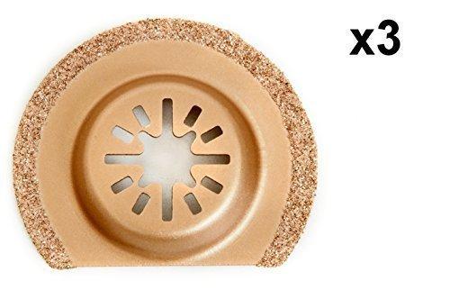 3 x Antler 63mm Carbid Klingen Fein Multimaster Bosch Makita Milwaukee Pendel Multifunktionswerkzeug AB63CD