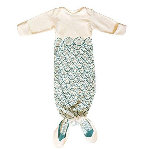 NUOLUX Cotton Snuggle Mermaid Sleeping Bag Sleep Sack Blanket Sleepsuit for 0-6 Month Baby (Mermaid)