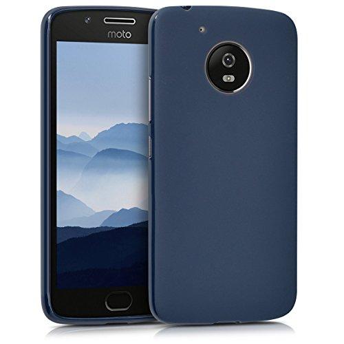 kwmobile Motorola Moto G5 Hülle - Handyhülle für Motorola Moto G5 - Handy Case in Dunkelblau matt