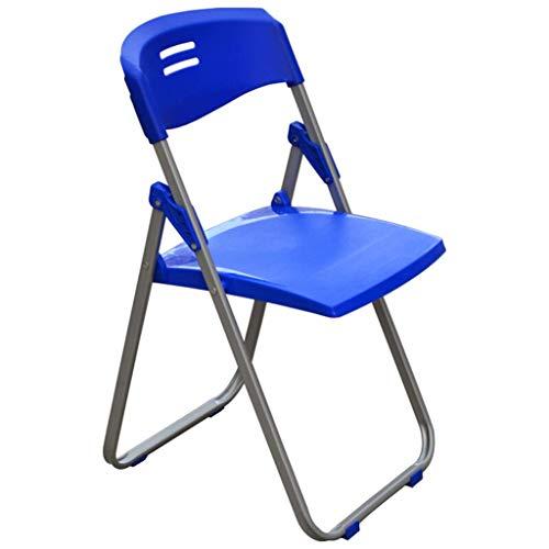 ZLL Home Chair Hocker Klappstuhl-Klappstuhl mit Rückenlehne, Freizeitstuhl mit Kunststoffsitz und Metallgestell, für den Home-Office-Partygebrauch,Blau, -
