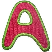 Parche Termoadhesivos Alfabeto/Letra roja, Alphabet/Buchstabe:Buchstabe A - 6.3x5