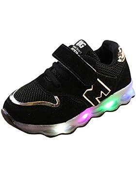 zapatos bebe niño, Sannysis zapatos tacon niña vestir casual Zapatillas de Colores de Luces Transpirables zapatos...