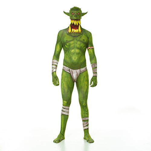 Morphsuits MLORGX - Grün Orc Jaw Dropper Morphsuit - Grüne Morphsuits