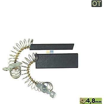Kohlen für Waschmaschine 12,5 x 5 x 43 mm 4,8 mm AMP Bosch 00605694