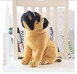 song710 Simulation Mops Hund Plüsch Puppen Spielzeug Weiche Kuscheltiere Gelbe Hündchen Puppe Nettes Baby Geschenk Für Mädchen Kinder 30CM