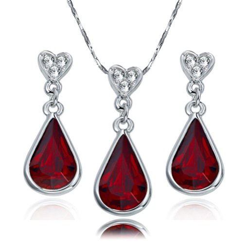 yoursfs-tear-drop-of-heart-18k-gold-plated-garnet-crystal-pendent-necklace-and-earrings