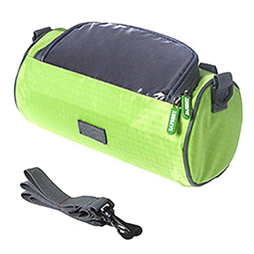 Fahrrad-Beutel Fahrrad-vordere Schlauch-Rahmen-Radfahrenpakete, Touch Screen-Handy-Beutel Berufsfahrrad-Zusätze Grün