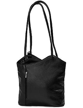 IO.IO.MIO Leder Rucksack oder Schultertasche für Damen freie Farbwahl rot / schwarz / blau / grün / grau / braun...