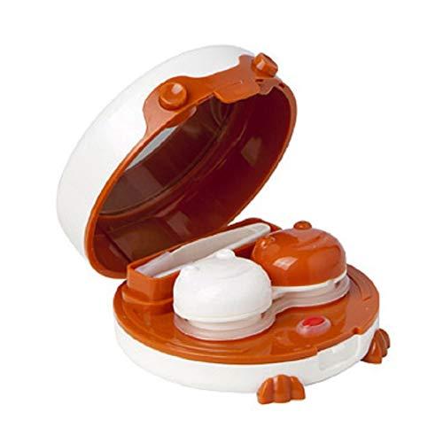 Monllack Kontaktlinse Auto Cleaner Washer Cleaning Device Box Batteriebetriebener EIN- / Ausschalter Knopfreiniger Waschmaschinenbehälter