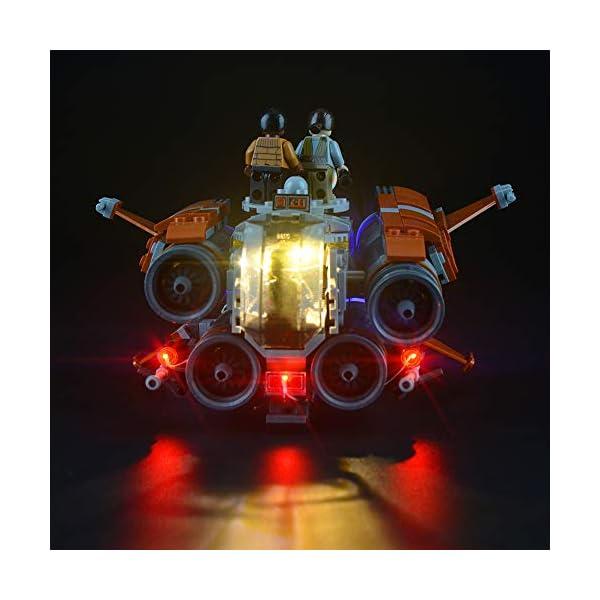 Lightailing Set di Luci per (Star Wars Quadjumper Di Jakku) Modello da costruire - Kit luce led compatibile con Lego… 2 spesavip