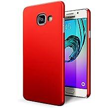 Funda Samsung Galaxy A5 2016, SLEO PC Back Cover de Parachoques Duro Cubierta Protectora para Samsung Galaxy A5 2016 - Rojo