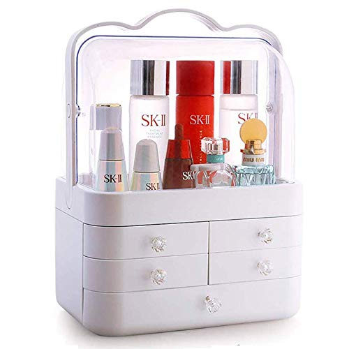 MQQ Caja cosméticos almacenamiento cajón transparente