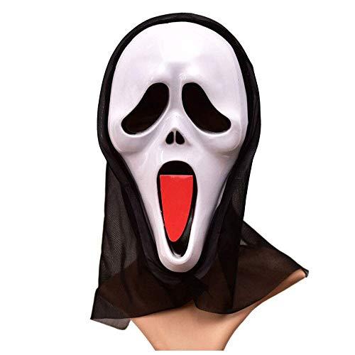 Tongue Zunge Ghost Maske Horror Kopfbedeckungen Devil Mask Scream Lustige Scary Grimace Skeleton Scream Mask ()