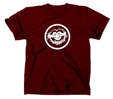 Animal Tier Muppets T Shirt, L, maroon