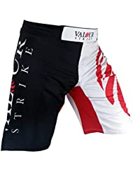 MMA Fight Shorts y#x2605; UFC PRO jaula de Muay Thai Kick Boxing boxeo artes marciales uniforme y#x2605; Lucha patada corta ropa - valor huelga red,black,white Talla:34 pulgadas