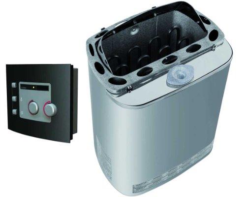 Karibu Bio-Kombiofen Plug & Play 3,6 kW externe Steuerung mit Steinen