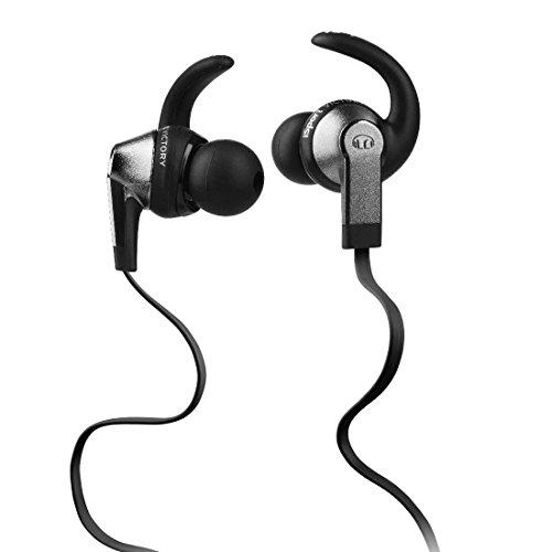 cad33bc135b Monster iSport Victory In-Ear Headphones, Black, Running, Sweatproof