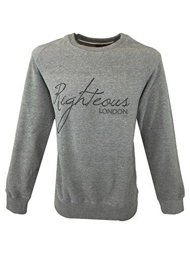 Righteous London - Sweat-Shirt - Pull - Uni - Manches Longues - Homme Gris Gris X-Large - Gris - X-Large