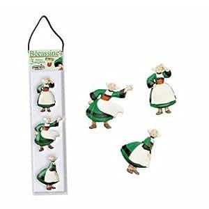 Plastoy - 70168 - Figurine - Set de 3 Mini Magnets - Becassine