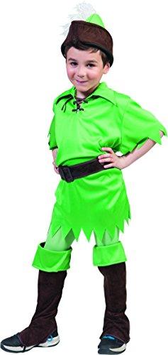 chamboolee - Peter Pan Kostüm für Kinder, 116-122, 6-7 Jahre, Grün