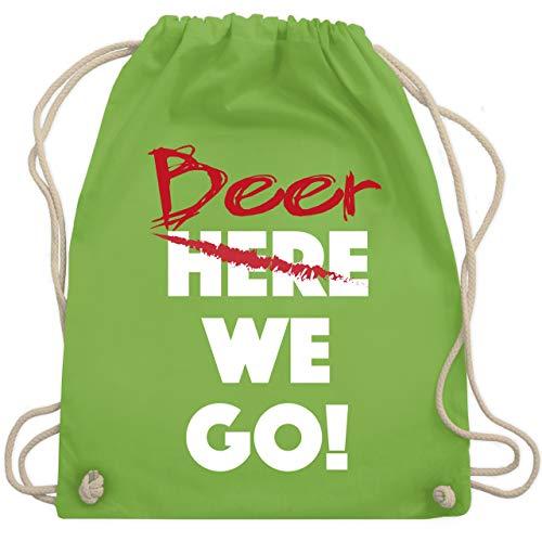 Sprüche - Beer we go - Unisize - Hellgrün - WM110 - Turnbeutel & Gym Bag