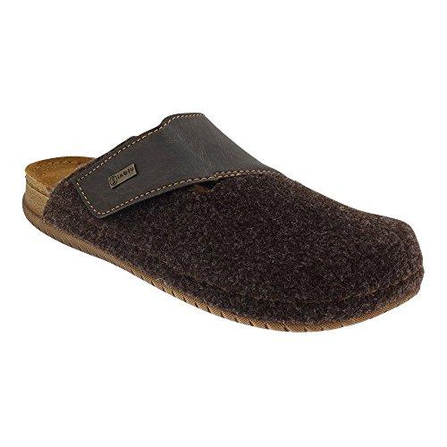 GALLUX - Herren Jungen Hausschuhe Pantoffeln flache Slipper Schuhe Braun