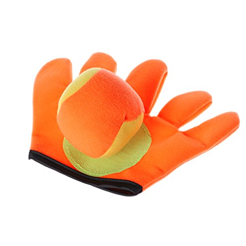JAGENIE Outdoor Sports Spiel Werfen Fangen Bälle Spielzeug Handschuhe Set Sticky Mitts Kids PlayingChristmas Neujahrsgeschenk, 1 Stück, zufällige Lieferung Mitt Kids Handschuhe