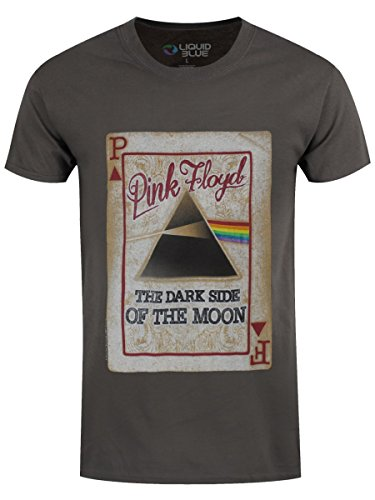 Pink Floyd T-Shirt Dark Side Deck da uomo in grigio