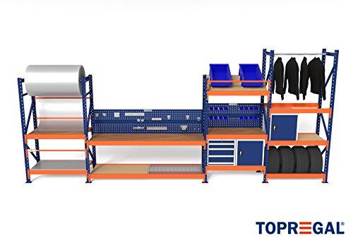 Hochregal Regalsysteme Industrie Fachbodenregal H200-250xB230xT60 von TOPREGAL