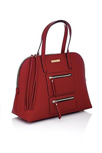 Borsa a Mano da donna in Pelle - Made in Italy Rosso