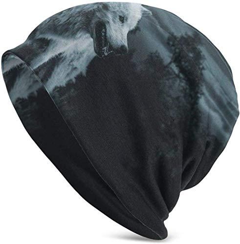setyserytu Berretti/Cappellino Teschio, Wild Snow Wolf Warm Knit Hats Comfortable Soft Beanie Hat Skull cap Winter Ski Baggy Hat for Men Wom