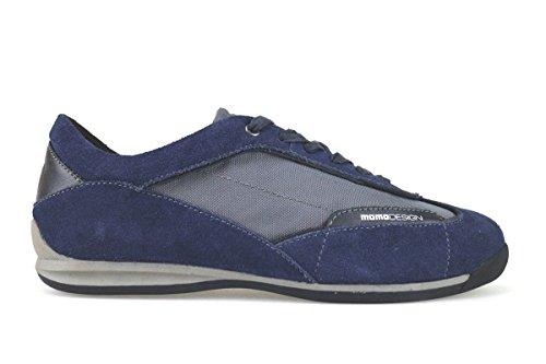 scarpe uomo MOMO DESIGN sneakers blu / grigio camoscio / tessuto AK944 (40 EU)