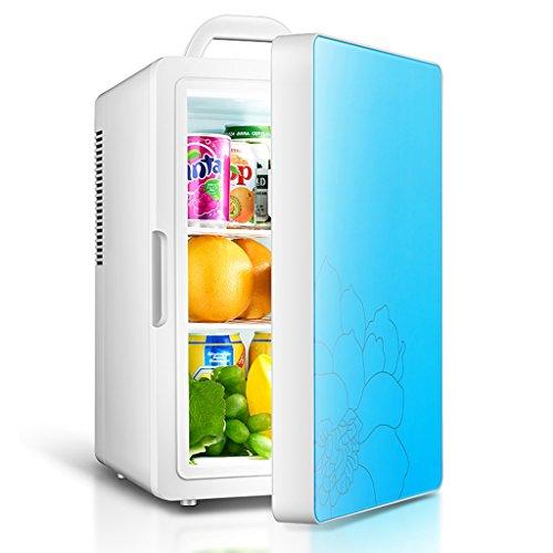 Sunjun 16L Mini Auto Kühlschrank Mini, Schlafsaal Hause mit kleinen Kühlschrank Kühlung Auto Home Dual Heizung und Kühlung ( Farbe : Blau ) (Kompakte Doppel-heizung)