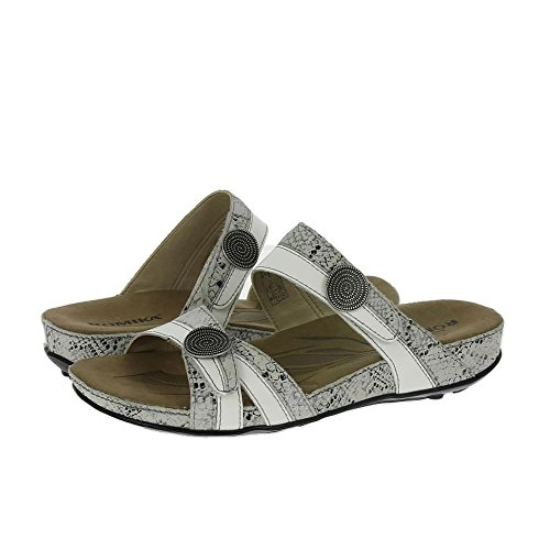 Romika Womens Fidschi 22 Leather Sandals White