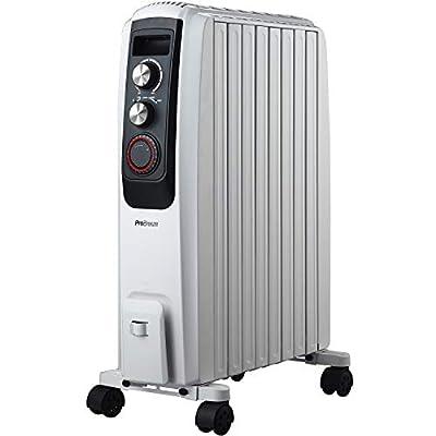 Pro Breeze 2000W Ölradiator - elektrischer, energiesparender Heizkörper mit 8 Rippen, integrierter Zeitschaltuhr, 3 Heizstufen, regulierbaren Thermostat und Sicherheitsabschaltfunktion von Pro Breeze bei Heizstrahler Onlineshop