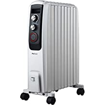 Pro Breeze Radiador de Aceite 2000W - 8 Elementos, 3 Configuraciones de Calor, Temporizador