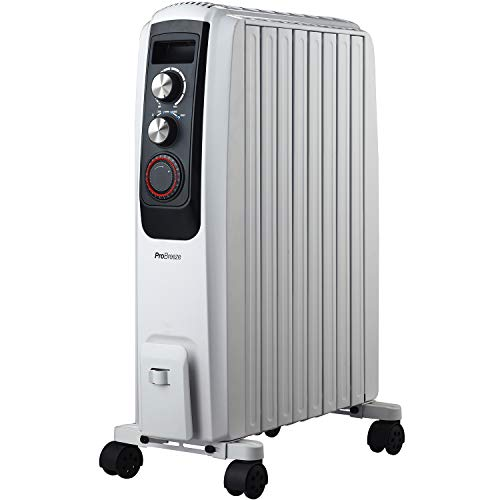 41Ryi5q43mL. SS500  - Pro Breeze Oil Filled Radiator 2000W Advanced Chimney Circulation – Portable Electric Heater with Built-in Timer, 3 Heat Settings, Thermostat and Safety Cut-Off