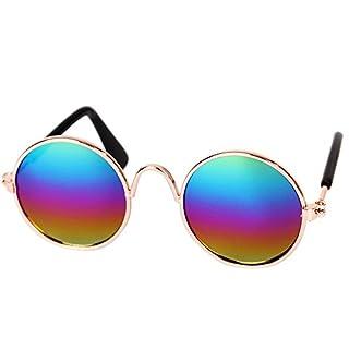 Amcool Haustier Katze Hund Mode Sonnenbrillen Augenschutz UV Brillen (Mehrfarbig)