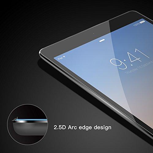 Coolreall - Vetro Temperato per iPad Air 1/ iPad Air 2, iPad Pro 9.7, Durezza Ultra Resistente Pellicola Vetro, 0.33mm, Trasparente