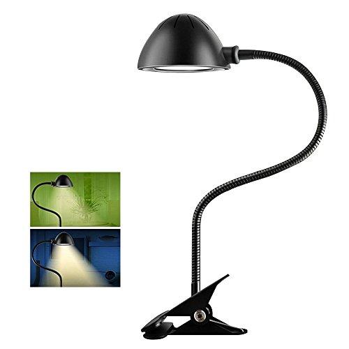 Skitic Flexible Réglable LED Lampe de Table USB Rechargeable Lumière de Bureau Energy Saving Reading Light Desk Lamp Agrafe Stable Lampe de Lecture étude Lampe de Chevet 2 Niveau Variateur Lampes de Poste de Travail avec Clip, Protection des Yeux, Noir