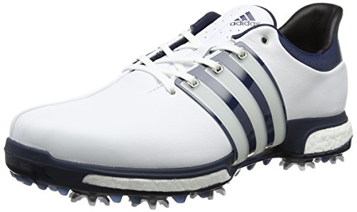 adidas Tour 360 Boost Scarpe da Golf Uomo, Multicolore (White/Dark Slate/Silver Metallic) 42 2/3 EU