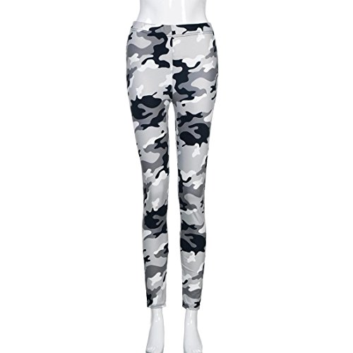 Amlaiworld Moda donna yoga allenamento palestra leggings fitness sport Pantalone pantaloni atletici bianco