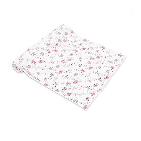 CuteOn Neugeborene Swaddle Baby Receiving Blankets - 100% Baumwolle - Super Weich für Baby Duschengeschenk 12 Rosa Kaninchen 33.46