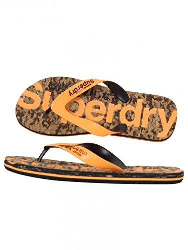 Schuhe Zehentrenner Cork Flip Flop Mf3279sqf5-Mn7 Black Fleck/Fluro Orange M