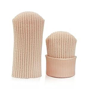 QHDZ Einstellbar Stoff Ausgekleidet Gel Zehe Stricken Socks