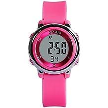 Hiwatch Reloj para Niñas Deportivos Impermeable Digital a Prueba de Agua Relojes para Chicas Rosado